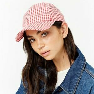 Forever 21 woman red &white cap